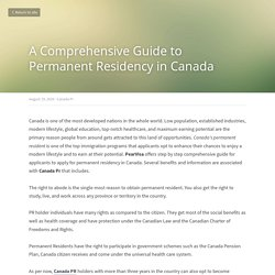 A Comprehensive Guide to Permanent Residency in Canada - Canada Pr