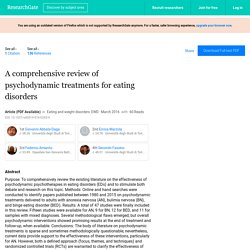 A comprehensive review of psychodynamic treatments for eating disorders