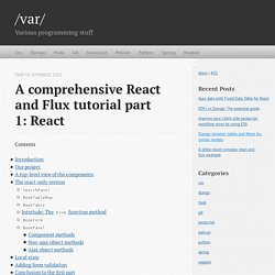 A comprehensive React and Flux tutorial part 1: React — /var/