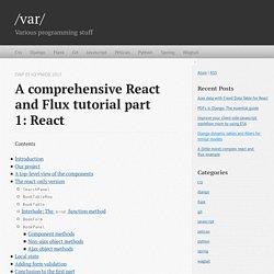 A comprehensive React and Flux tutorial part 1:React — /var/