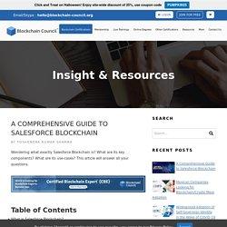 A Comprehensive Guide to Salesforce Blockchain