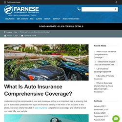 What Is Auto Insurance Comprehensive Coverage?