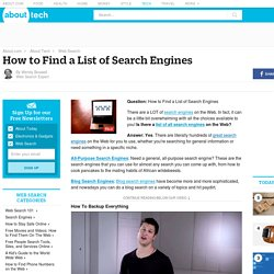 A Comprehensive List of All Web Search Engines