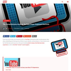 The Comprehensive Guide to YouTube Player Keyboard Shortcuts