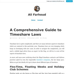 Things to Know About Timeshare Laws