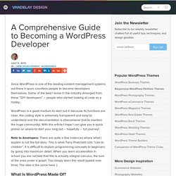 A Comprehensive Guide to Becoming a WordPress Developer