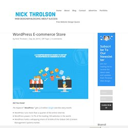 A Comprehensive Guide To Setup WordPress E-commerce Store