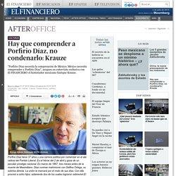 Hay que comprender a Díaz, no condenarlo: Enrique Krauze