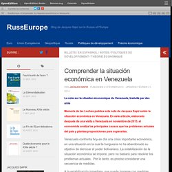 Comprender la situación económica en Venezuela – RussEurope