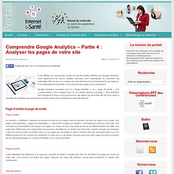 Comprendre Google Analytics – Partie 4 : Analyser les pages de votre site