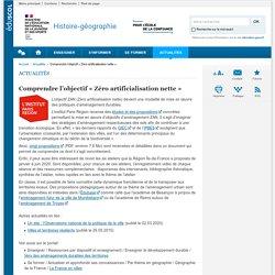 Comprendre l'objectif «Zéro artificialisation nette»-Histoire-géographie-Éduscol