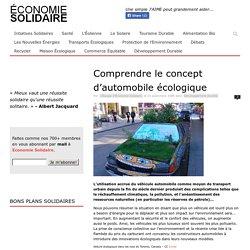 Comprendre le concept d'automobile écologique