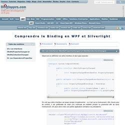 Comprendre le Binding en WPF et Silverlight