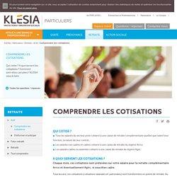 Comprendre les cotisations - Klesia