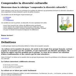 Comprendre la diversité culturelle