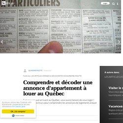 Comprendre et décoder une annonce d'appartement à louer au Québec