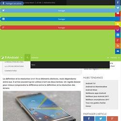 Bien comprendre la différence entre définition et résolution d'un écran