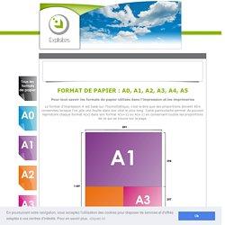 Format de papier A0, A1,A2, A3, A4, A5 - Pour tout comprendre sur les différents formats de papier