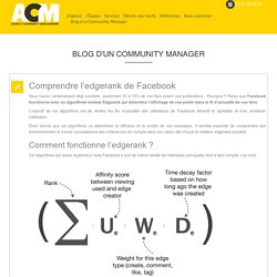 Comprendre l'edgerank de Facebook
