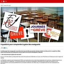 4 questions pour comprendre la grève des enseignants