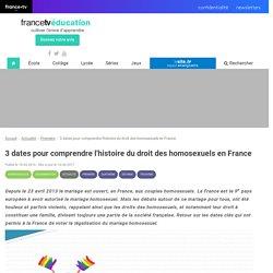 3 dates pour comprendre l'histoire du droit des homosexuels en France