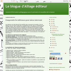 Le blogue d'Alliage éditeur: Comprendre les inférences pour mieux intervenir