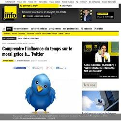 Comprendre l'influence du temps sur le moral grâce à... Twitter