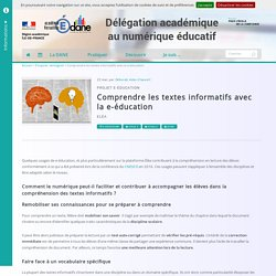 Comprendre les textes informatifs avec la e-éducation