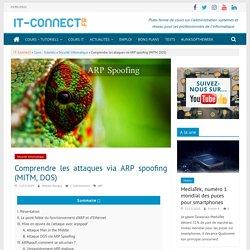 Comprendre les attaques via ARP spoofing (MITM, DOS)