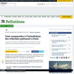 Tout comprendre à l'interdiction des véhicules polluants à Paris