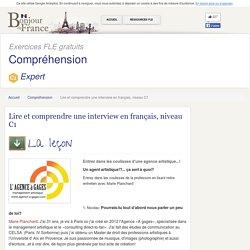Lire et comprendre une interview en français, niveau C1 - Avancé