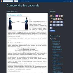 Comprendre les Japonais: Le Ma, espace qui relie