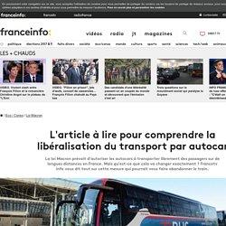 L'article à lire pour comprendre la libéralisation du transport par autocar