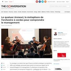 Lequatuor Annesci, la métaphore de l'orchestre àcordes pourcomprendre lemanagement