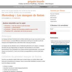 Comprendre les masques de fusion dans Photoshop cc