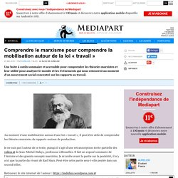 Comprendre le marxisme pour comprendre la mobilisation autour de la loi « travail »