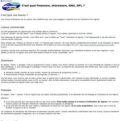 Comprendre l'ordinateur - Freeware, shareware, GNU, GPL