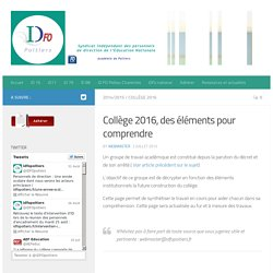 IDFO, Syndicat de personnels de direction, académie de Poitiers
