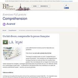 Un fait divers, comprendre la presse française