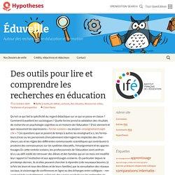 Des outils pour lire et comprendre les recherches en éducation