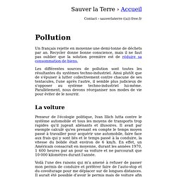 Comprendre et r duire sa pollution
