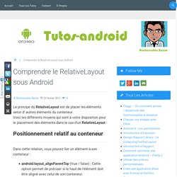 Comprendre le RelativeLayout sous Android