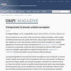 Comprendre le brevet unitaire européen