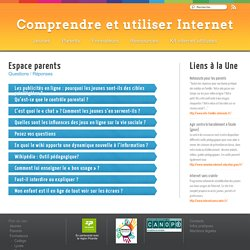 Parents - Comprendre et utiliser Internet