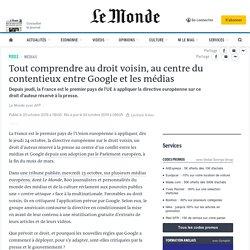 Tout comprendre au droit voisin, au centre du contentieux entre Google et les médias