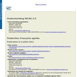 Comprendre les WCAG 2.0