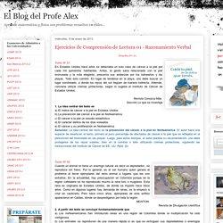 Ejercicios de Comprensión de Lectura 01 - Razonamiento Verbal « Blog del Profe Alex