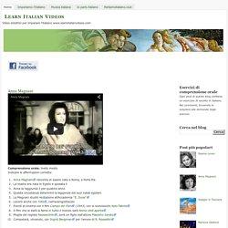 Esercizi di comprensione orale in italiano con video didattici