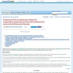 Programa de lecto-escritura para mejorar la compresión y producción de textos de los alumnos del tercer ciclo de Educación Primaria