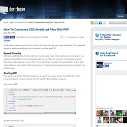 GZIP Compress CSS/JavaScript Files With PHP